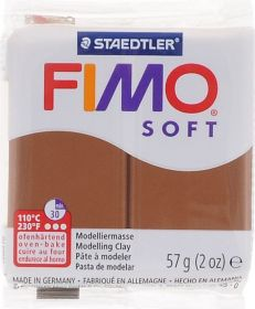 Polümeersavi Soft 57g karamellipruun, Fimo /6