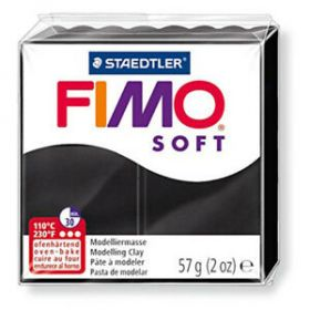 Polümeersavi Soft 57g must, Fimo /6