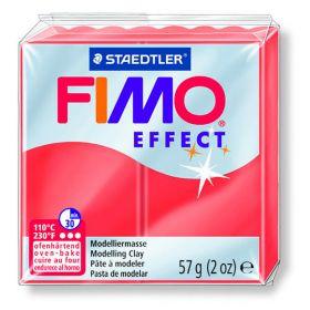 Polümeersavi Effect 57g läbip. punane, Fimo /6