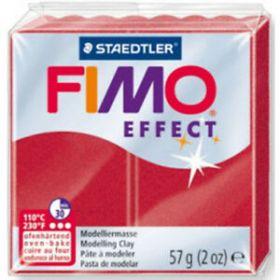 Polümeersavi Effect 57g punane metallik, Fimo /6