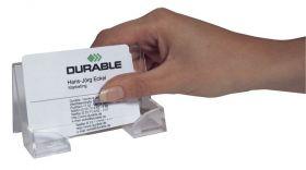 Visiitkaardialus Durable, mahutab kuni 50 visiitkaarti, laiusega kuni 100 mm, akrüül /8