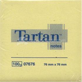 Märkmepaber Tartan 654T 76x76mm/100l, kollane, 3M/12/144