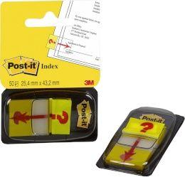 Järjehoidja Post-it 680-32 50tk/pk, 25,4x43,2mm, korduvkinnitus''?''/12/36 TELLIMISEL