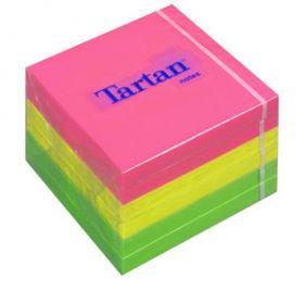 Märkmepaber Tartan notes (07676-N) 76x76 100l neoonvärvid 3M/6
