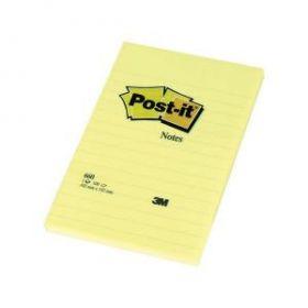 Märkmepaber Post-it 660 jooneline 102x152mm kollane/6