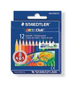 Värvipliiatsid 12 värvi Noris Club lühikesed A·B·S löögileevenduskihiga, Staedtler /10