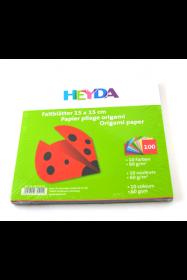 Origami paber 5x15cm 60g/m2, 10värvix10lehte, Heyda /5