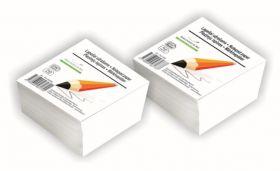Märkmekuup 500lehte, 90x90mm, valge liimitud, Smiltainis
