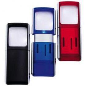 Luup 3x, valgustusega 3,5x3,8cm sinine RP, Wedo