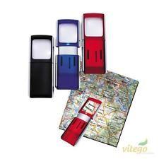 Luup 3x, valgustusega 3,5x3,8cm punane RP, Wedo