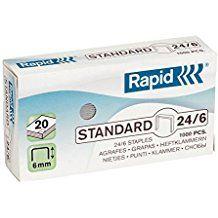 Klambrid 24/6 tsink 1000tk/pk Standard, Rapid /20/200