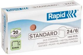 Klambrid 24/6 vask 1000tk/pk, Standard, Rapid /20/200