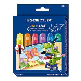 Geelkriit NC Glitter värvid 6tk/pk, keeratav südamik, Staedtler/5