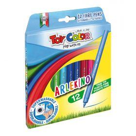 Viltpliiatsid 12 värvi Arlekino ''Play with us'' kartongkarbis, Toy Color /48
