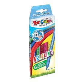 Viltpliiatsid 6 värvi Arlekino ''Play with us'' kartongkarbis, Toy Color /12/96