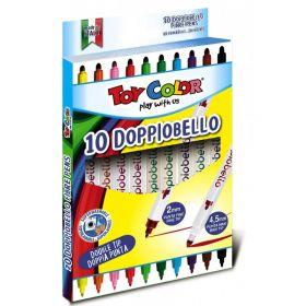 Viltpliiatsid 10v 2-otsaga Doppiobello, Toy Color /10