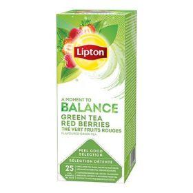 Tee Lipton fooliumis roheline tee punaste marjadega 25tk/p/6