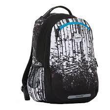 Seljakott/koolikott Explore 2-ühes Viki Lumine mets - valge mustaga