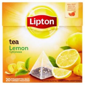 Tee Lipton Lemon ,püramiid 20tkx1,7g/pk/12