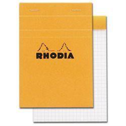 Märkmeplokk A6/80lehte ruut Rhodia oranž 80g, Clairefontaine /10