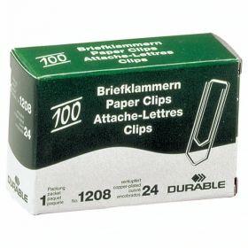 Kirjaklamber 32mm, vask 100tk/pk, Durable /20