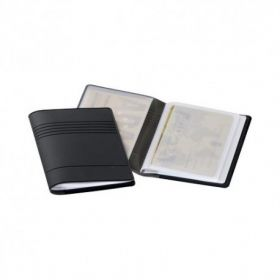 Magnetkaardimapp Durable, paindlik ja praktiline mapp, läbipaistva taskuga 10-le krediitkaardile, (54x85mm) must