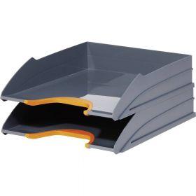 Dokumendisahtel Durable A4 antratsiit/oranž, 2tk komplektis