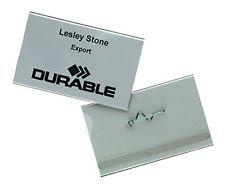 Nimesildihoidja Durable nõelklambriga 30x60mm /100tk