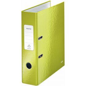 Registraator A4/8cm roheline WoW metallik/10 Leitz