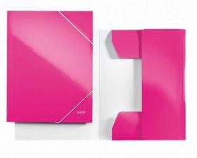 Kartongmapp kummiga Wow Leitz A4 roosa /10